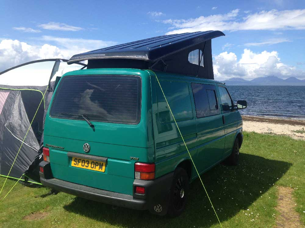 VW CAMPER VAN HIRE GLASGOW WEST OF SCOTLAND